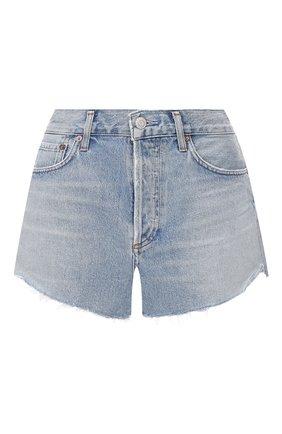 Женские джинсовые шорты AGOLDE голубого цвета, арт. A026B-1141 | Фото 1