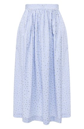 Женская хлопковая юбка ERMANNO ERMANNO SCERVINO голубого цвета, арт. 46T GN28 RIS   Фото 1