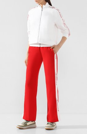 Женские брюки ERMANNO ERMANNO SCERVINO красного цвета, арт. 46T PL19 GIS   Фото 2