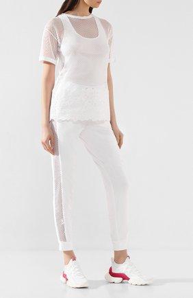 Женская хлопковая футболка ERMANNO ERMANNO SCERVINO белого цвета, арт. 46T TS05 RET   Фото 2