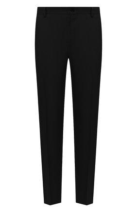 Мужской льняные брюки DOLCE & GABBANA черного цвета, арт. GY6IET/FU4JB | Фото 1