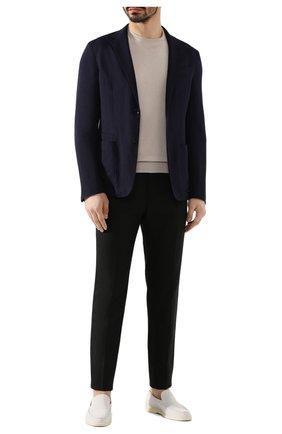 Мужской льняные брюки DOLCE & GABBANA черного цвета, арт. GY6IET/FU4JB | Фото 2