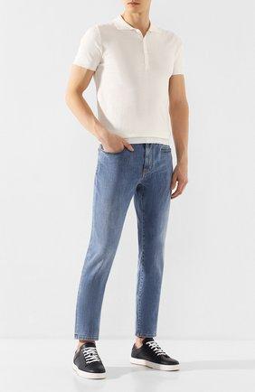 Мужские джинсы Z ZEGNA голубого цвета, арт. VU702/ZZ530 | Фото 2