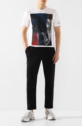 Мужской хлопковые брюки Z ZEGNA черного цвета, арт. VU142/ZZ395 | Фото 2