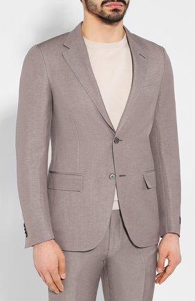 Мужской костюм из смеси шерсти и льна ERMENEGILDO ZEGNA светло-серого цвета, арт. 776509/25M22Y | Фото 2