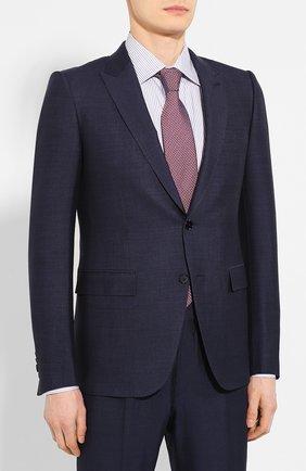 Мужской костюм из смеси шелка и шерсти ERMENEGILDO ZEGNA темно-синего цвета, арт. 716070/21CSA7 | Фото 2