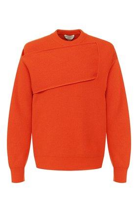Мужской кашемировый свитер BOTTEGA VENETA оранжевого цвета, арт. 620902/VKTI0 | Фото 1