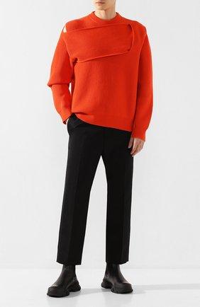 Мужской кашемировый свитер BOTTEGA VENETA оранжевого цвета, арт. 620902/VKTI0 | Фото 2