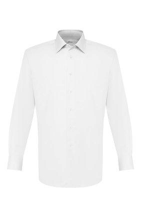 Мужская хлопковая сорочка BRIONI белого цвета, арт. RCLU16/0804C | Фото 1