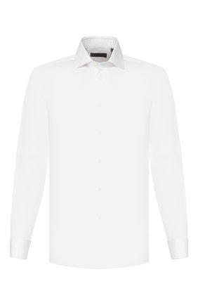 Мужская хлопковая сорочка CORNELIANI белого цвета, арт. 85P150-0111304/00 | Фото 1
