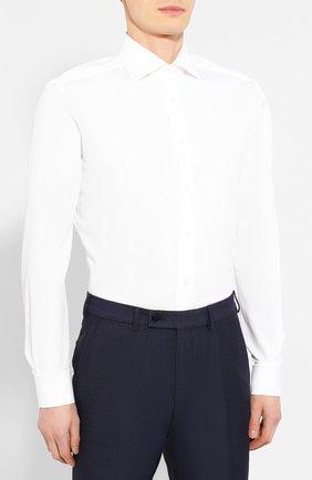 Мужская хлопковая сорочка CORNELIANI белого цвета, арт. 85P150-0111304/00 | Фото 3