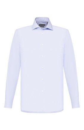 Мужская хлопковая сорочка CORNELIANI синего цвета, арт. 85P100-0111269/00 | Фото 1