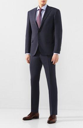 Мужская хлопковая сорочка CORNELIANI синего цвета, арт. 85P100-0111269/00 | Фото 2