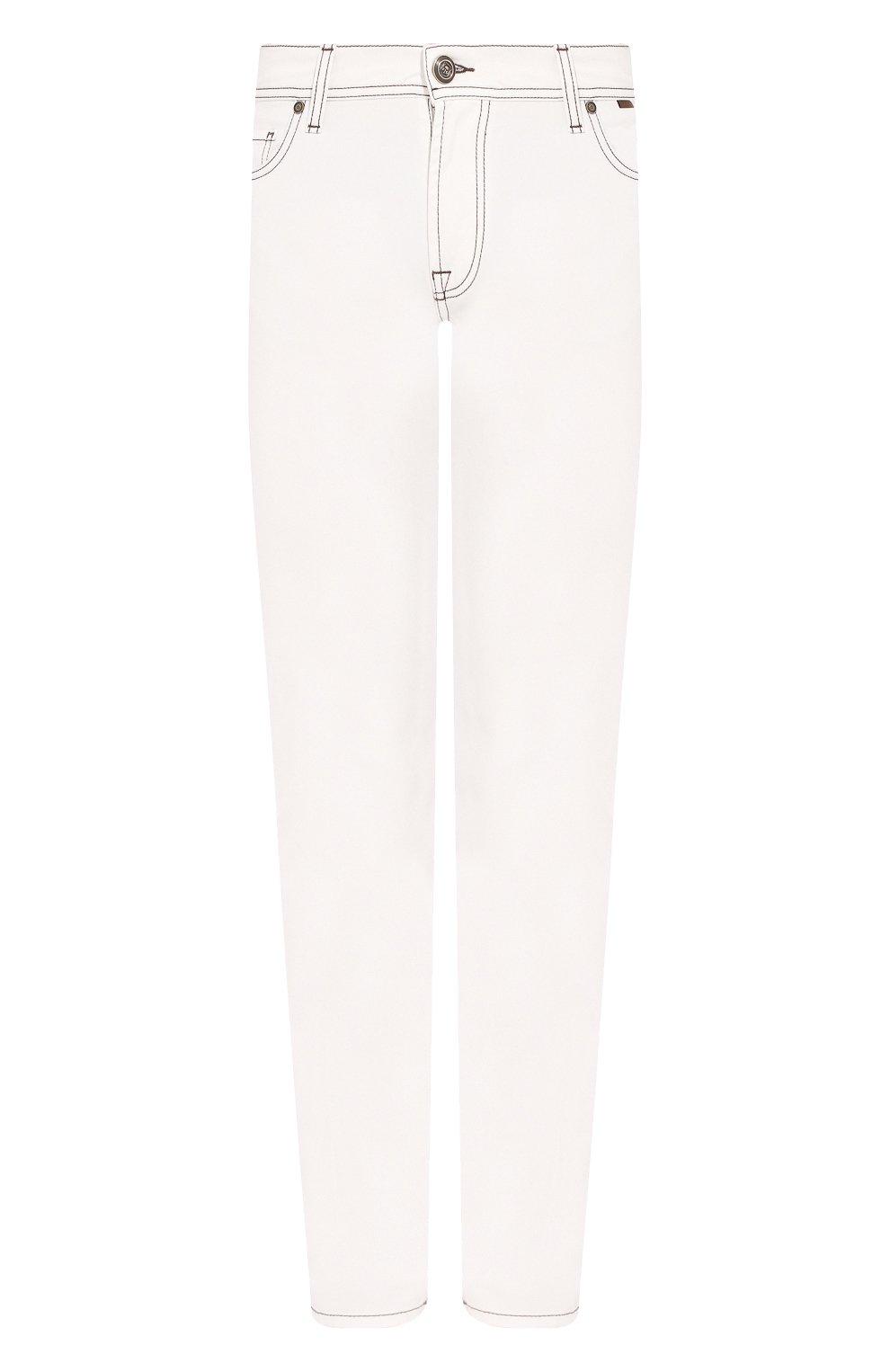 Мужские джинсы CORNELIANI белого цвета, арт. 854JK2-0120160/00 | Фото 1