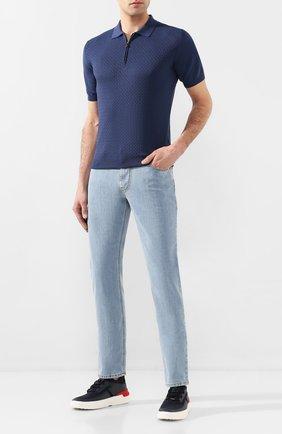 Мужские джинсы CORNELIANI голубого цвета, арт. 854JK2-0120158/00 | Фото 2