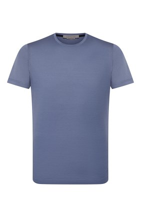 Мужская хлопковая футболка  CORNELIANI голубого цвета, арт. 00G500-0025000/00 | Фото 1