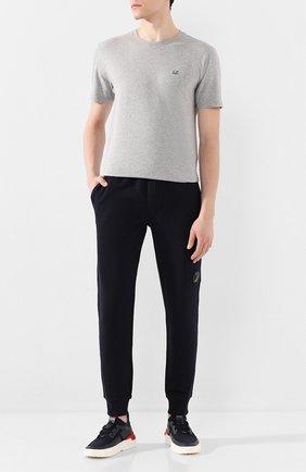 Мужская хлопковая футболка C.P. COMPANY серого цвета, арт. 08CMTS108A-005100W | Фото 2