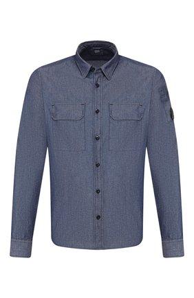 Мужская хлопковая рубашка C.P. COMPANY темно-синего цвета, арт. 08CMSH165A-005305W | Фото 1