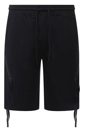 Мужские хлопковые шорты C.P. COMPANY темно-синего цвета, арт. 08CMSB177A-005160W | Фото 1