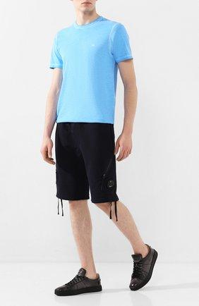 Мужские хлопковые шорты C.P. COMPANY темно-синего цвета, арт. 08CMSB177A-005160W | Фото 2