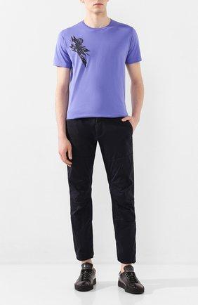 Мужской хлопковые брюки C.P. COMPANY темно-синего цвета, арт. 08CMPA210A-005694G | Фото 2