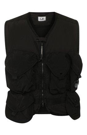 Мужской хлопковый жилет C.P. COMPANY черного цвета, арт. 08CM0W023A-005153G | Фото 1