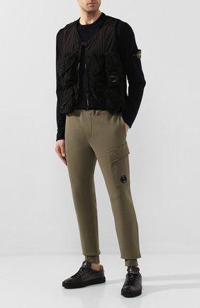 Мужской хлопковый жилет C.P. COMPANY черного цвета, арт. 08CM0W023A-005153G | Фото 2