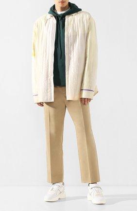 Мужские хлопковые брюки OAMC бежевого цвета, арт. 0AMQ311731 0Q242500 | Фото 2