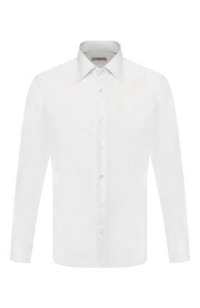 Мужская хлопковая сорочка LUCIANO BARBERA белого цвета, арт. 105426/73248 | Фото 1