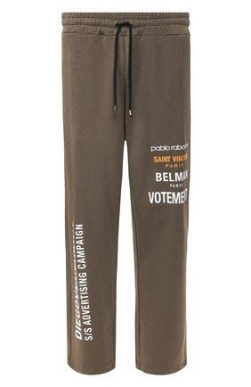 Мужской хлопковые брюки DIEGO VENTURINO хаки цвета, арт. SS20-DV PNTL DAC | Фото 1