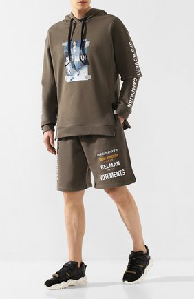 Мужские хлопковые шорты DIEGO VENTURINO хаки цвета, арт. SS20-DV SRT DAC | Фото 2