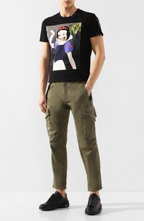 Мужская хлопковая футболка DIEGO VENTURINO черного цвета, арт. SS20-DV TS BMS   Фото 2