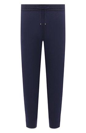 Мужские джоггеры из хлопка и кашемира GRAN SASSO синего цвета, арт. 57181/23211 | Фото 1 (Материал внешний: Хлопок; Мужское Кросс-КТ: Джоггеры-одежда, Брюки-трикотаж; Силуэт М (брюки): Джоггеры; Длина (брюки, джинсы): Стандартные)