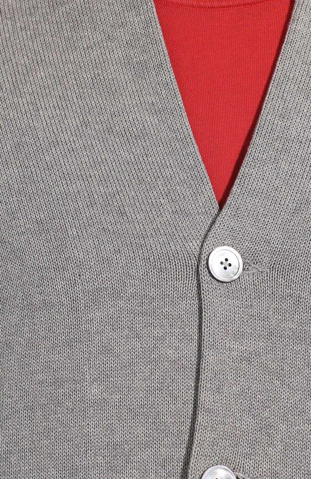 Мужской хлопковый кардиган ELEVENTY PLATINUM серого цвета, арт. A76GIAA04 MAG0A036   Фото 5