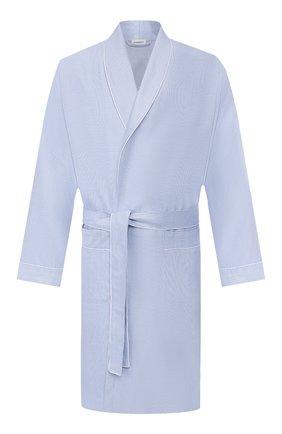 Мужской хлопковый халат ZIMMERLI голубого цвета, арт. 4753-75140 | Фото 1
