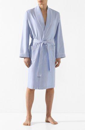 Мужской хлопковый халат ZIMMERLI голубого цвета, арт. 4753-75140 | Фото 2