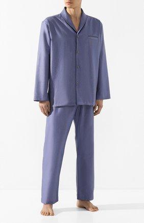 Мужская хлопковая пижама ZIMMERLI темно-синего цвета, арт. 4753-75012 | Фото 1