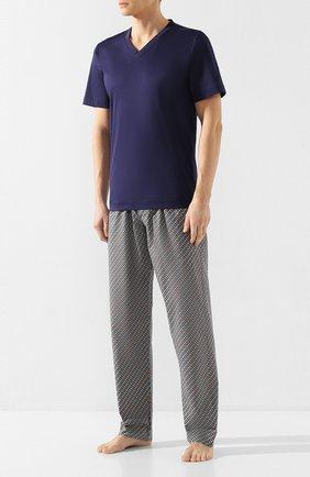 Мужские хлопковые домашние брюки ZIMMERLI разноцветного цвета, арт. 4752-75180   Фото 2