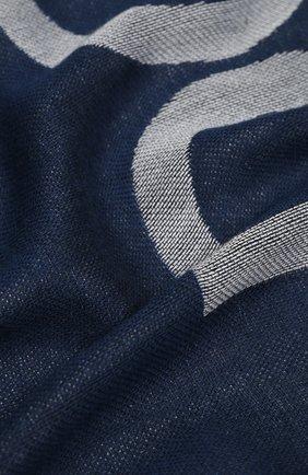 Мужской шарф DOLCE & GABBANA синего цвета, арт. GQ266E/G1JDI | Фото 2