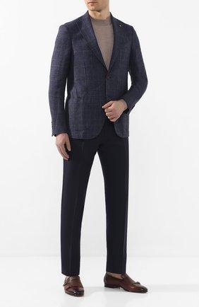 Мужской пиджак из смеси льна и хлопка SARTORIA LATORRE темно-синего цвета, арт. EF74 Q70361 | Фото 2