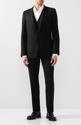 Мужской шерстяной костюм-тройка DOLCE & GABBANA черного цвета, арт. GK3XMT/FJ2BV | Фото 1