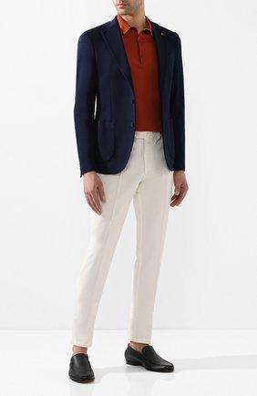 Мужские кожаные лоферы SANTONI темно-синего цвета, арт. MCPT15539LA5SDPSU53   Фото 2