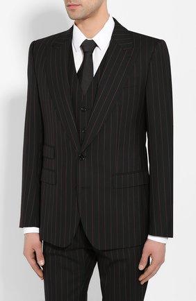 Мужской шерстяной костюм-тройка DOLCE & GABBANA черного цвета, арт. GKC8MT/FR3E3 | Фото 2