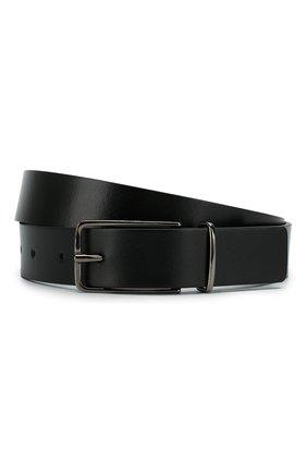 Мужской кожаный ремень HUGO черного цвета, арт. 50424685 | Фото 1