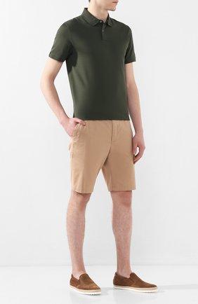 Мужские замшевые слипоны gomma rafia TOD'S коричневого цвета, арт. XXM0TV0K900RE0 | Фото 2