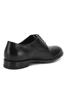 Мужские кожаные дерби ERMENEGILDO ZEGNA черного цвета, арт. A4465X-LHNAX | Фото 4