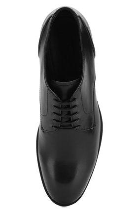 Мужские кожаные дерби ERMENEGILDO ZEGNA черного цвета, арт. A4465X-LHNAX | Фото 5