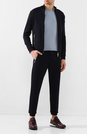 Мужские кожаные кроссовки KITON бордового цвета, арт. USSVLAEN00648 | Фото 2 (Материал внутренний: Натуральная кожа; Подошва: Массивная; Стили: Классический)