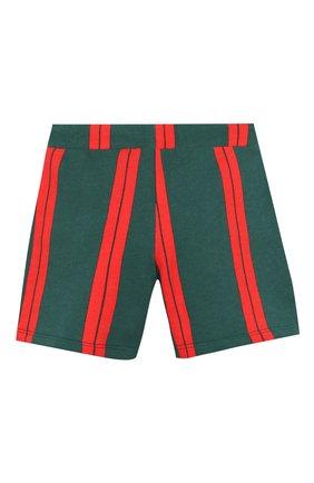 Детские хлопковые шорты MINI RODINI зеленого цвета, арт. 20230147 | Фото 2
