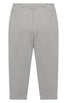 Детские хлопковые брюки MINI RODINI серого цвета, арт. 20230157 | Фото 2